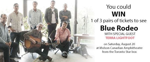 Win Tickets to Blue Rodeo