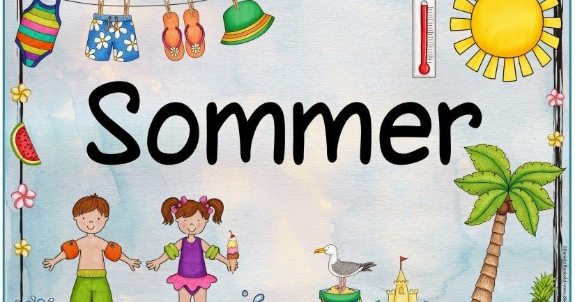 Plakat Zum Sommer Nachdem Mehrfach Nach Einem Jahreszeitenplakat Zum
