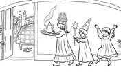 St Lucia S Day Coloring Page Christmas Coloring Pages