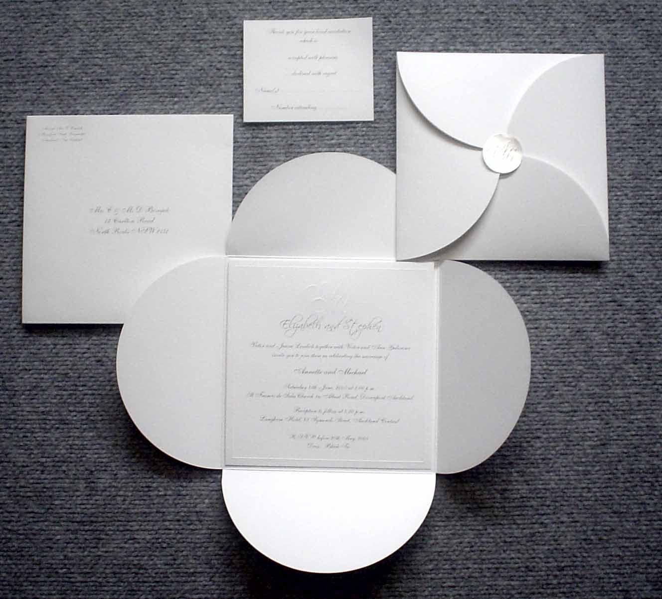 Wedding Invitations M2o 04 160 Sq Petal Wrap Wedding
