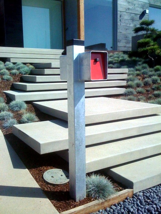 Modern concrete building stairs - 22 ideas for interior and ...
