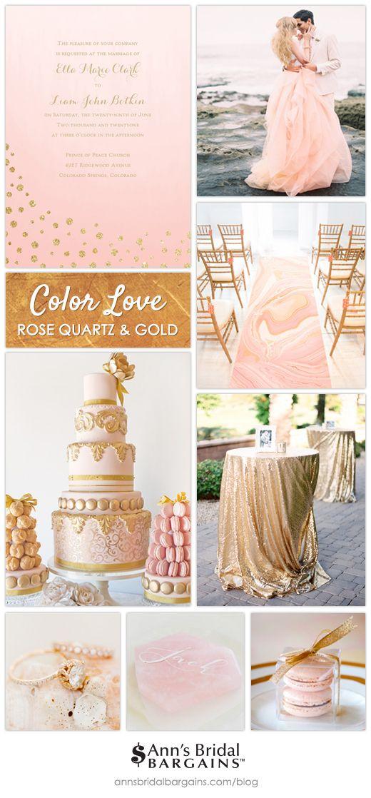 Color Love Rose Quartz And Gold Wedding Rose Gold Theme Rose