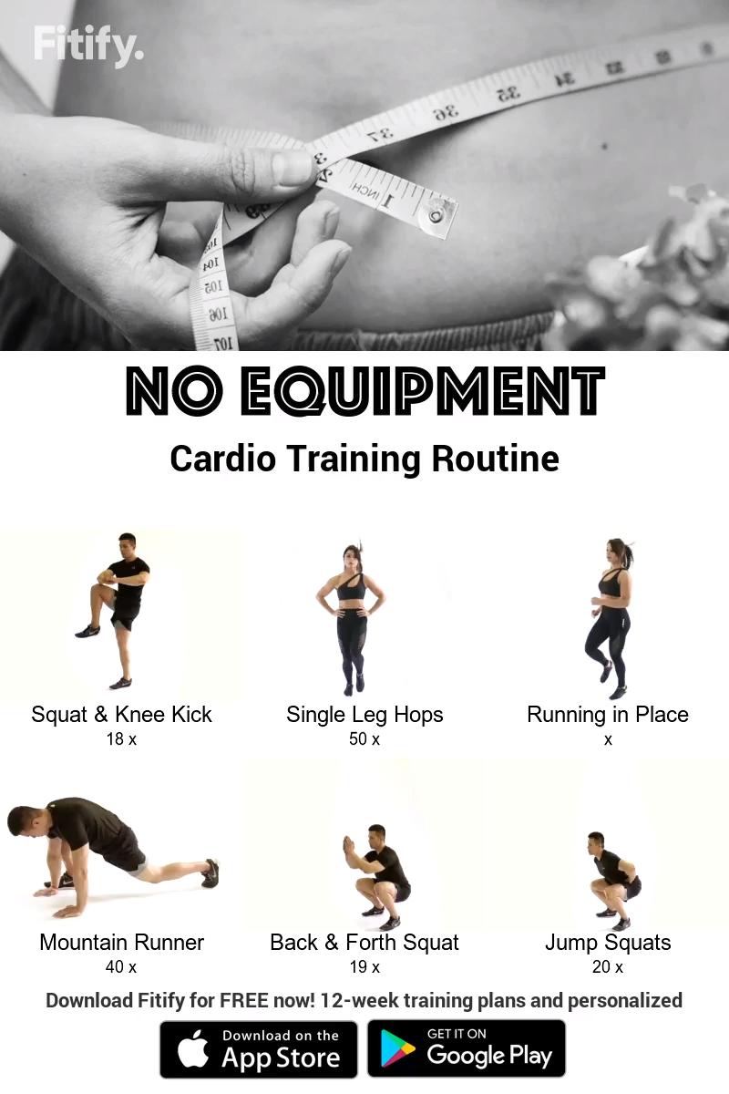 Burn Fat Cardio with NO Equipment