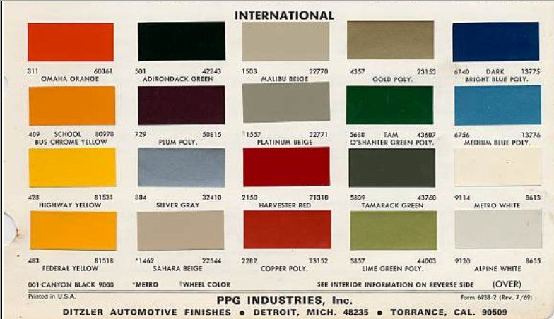 Tractor Color Chart Case Ih Google Search Ih Pinterest Ih