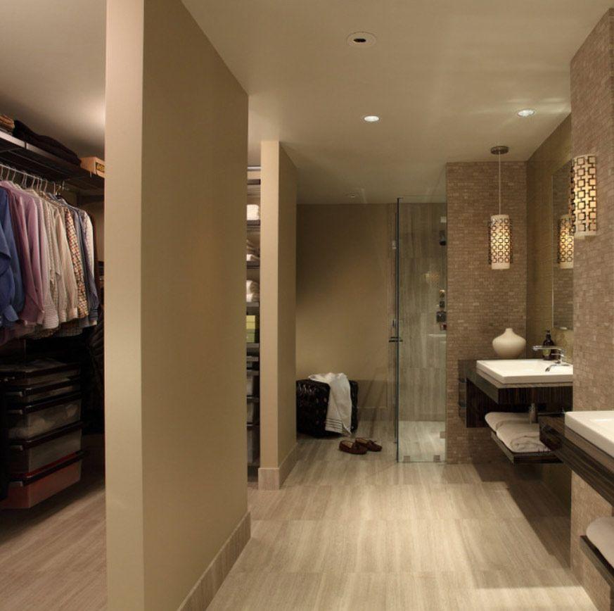 Masculine Master Baths: Masculine Closet/bathroom Combo For Mike