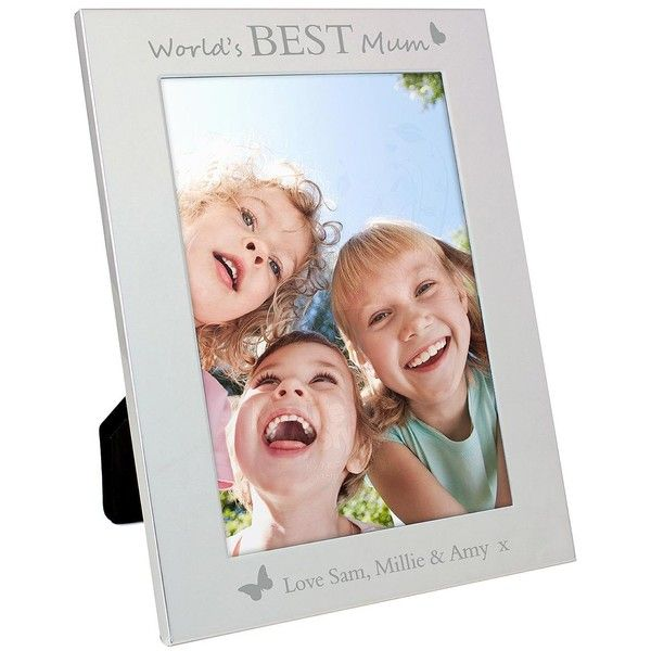 Personalised Mother\'S Day World\'S Best Silver Photo Frame With ...