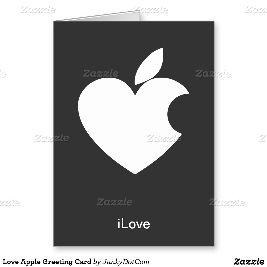 Love Apple Greeting Card Pinterest Apples
