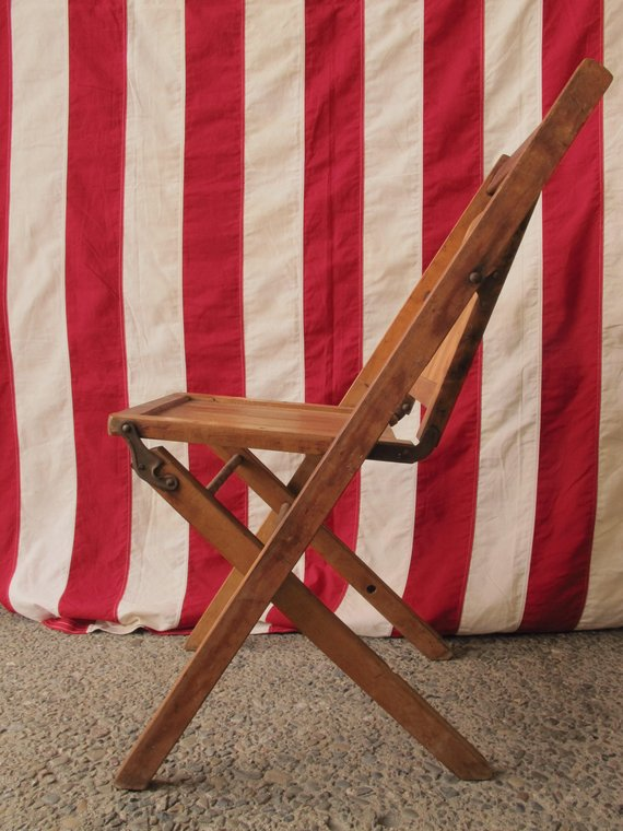 Pleasant 1800S Wooden Folding Chair Antique Deck Chair Wood Slatted Caraccident5 Cool Chair Designs And Ideas Caraccident5Info