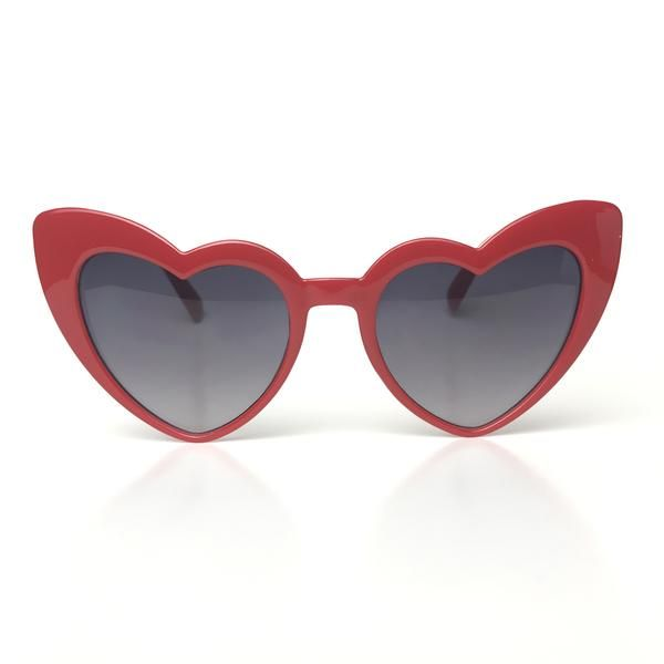 ddaf672c74 We have peeked!!!! Our two favorite styles in one!!Red lucite heart frames  with black lenses. UV Protected.