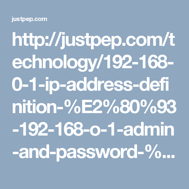 What is an ip address definition