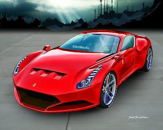 Auto Art – Sports Car Print – Ferrari 612 GTO Concept – Supercar – Classic Car P… – Luxury Brand Car Information And Promotion Blog