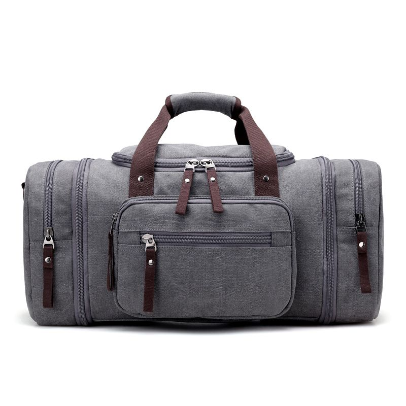 d942c4d6b32a Vintage Canvas Travel Bag Large Capacity High Quality Duffle Bag ...