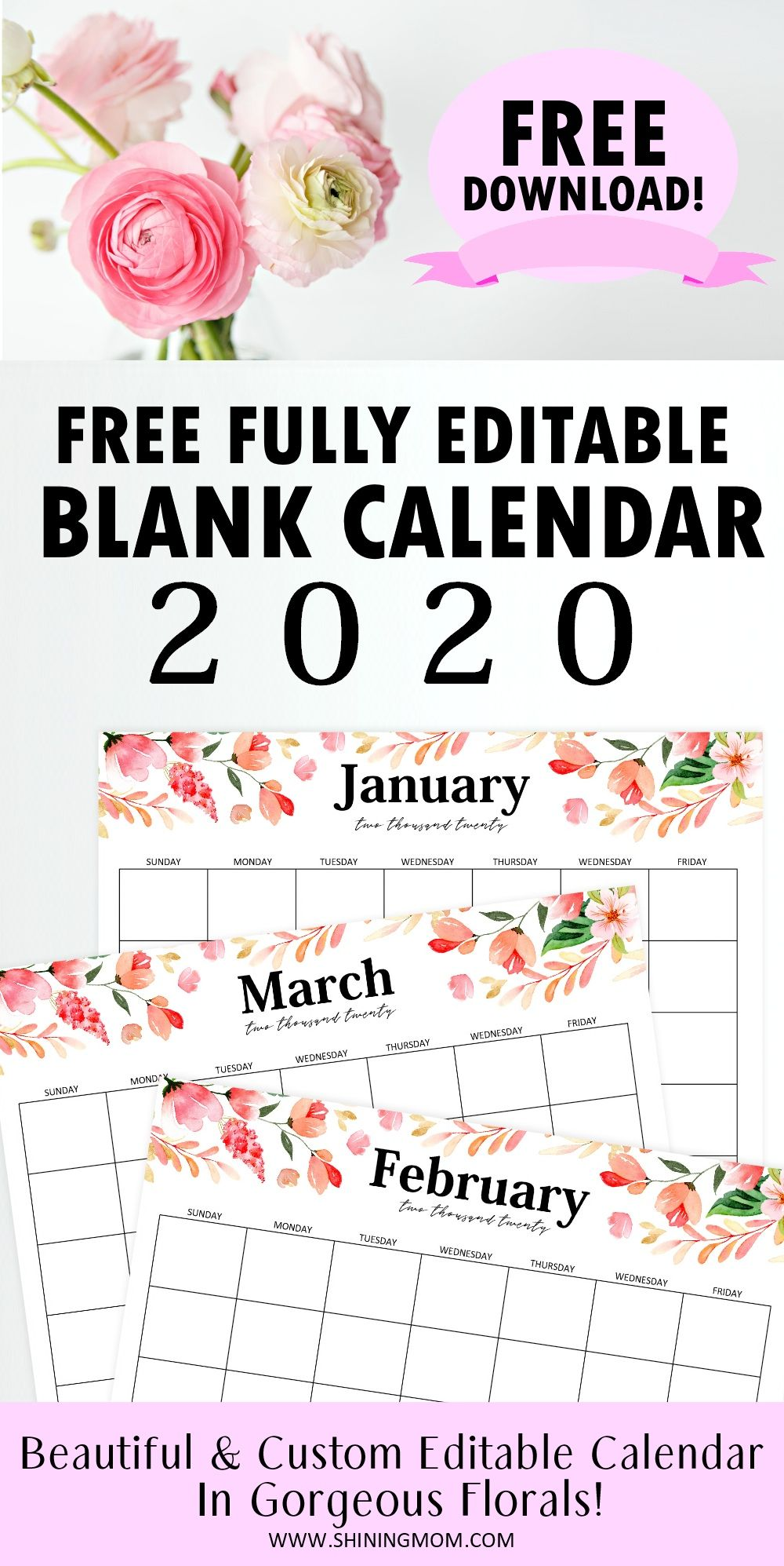 Free Fully Editable 2020 Calendar Template In Word Calendar