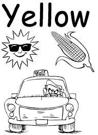 Favorite Color Hello Yellow Color Worksheets For Preschool