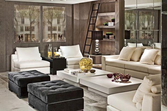 beautiful living room Like how the high gloss prints reflect light