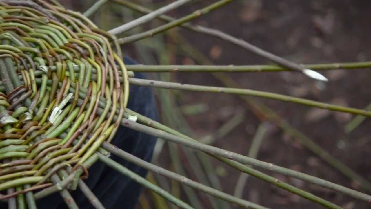 Willow Basket Weaving How To : Awesome for a basket making class beautifully shot