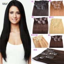 Clip hair 20inch 1 dark black straight wave brazilian hair virgin clip hair 20inch 1 dark black straight wave brazilian hair virgin remy clip in hair pmusecretfo Image collections