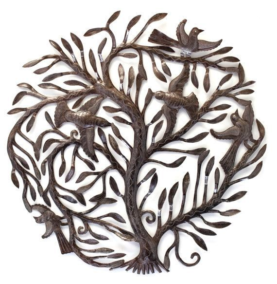 Large Garden Tree Of Life Metal Wall Art Fair By