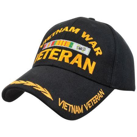 Vietnam War Veteran Ribbon Hat Black | All Things Veteran | Veteran
