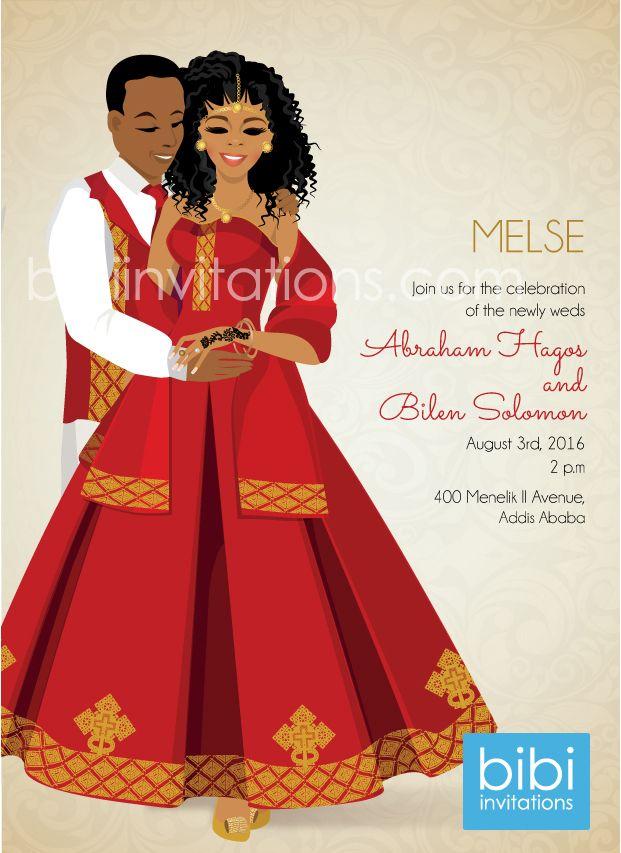 Fikir Ethiopia Traditional Wedding Invitation Ethiopian Wedding