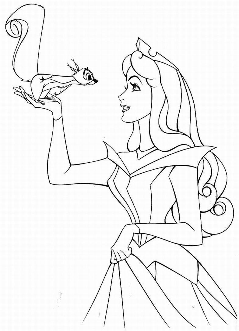 Princesas Disney Mas Dibujos Para Colorear De Quot La Bella