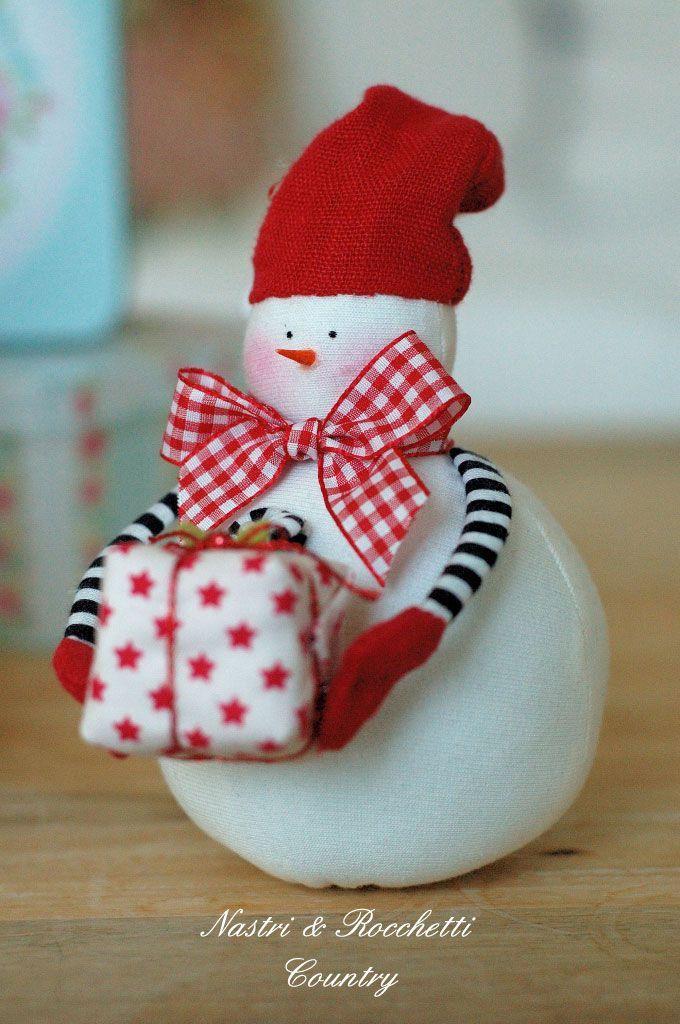 Tejido a mano del muñeco de nieve