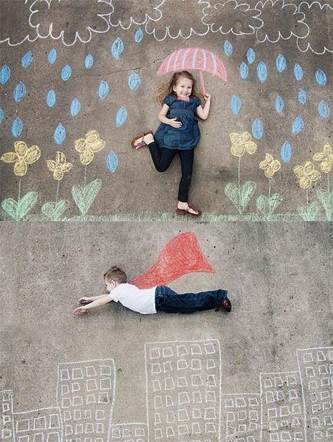 Erstellen Sie zusammen mit den Kindern die tollsten Kreidebilder und - design des projekts kinder zusammen