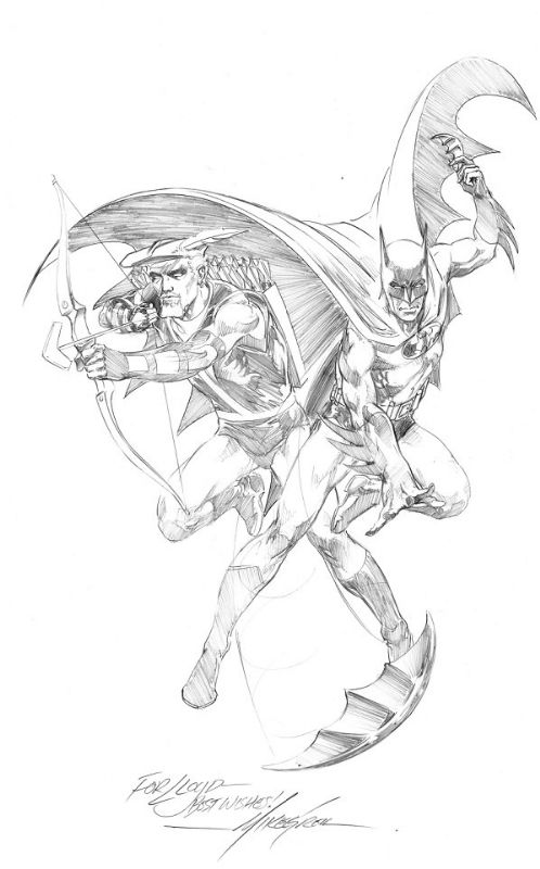 Batman And Green Arrow By Mike Grell Green Arrow Drawing Superheroes Comic Art