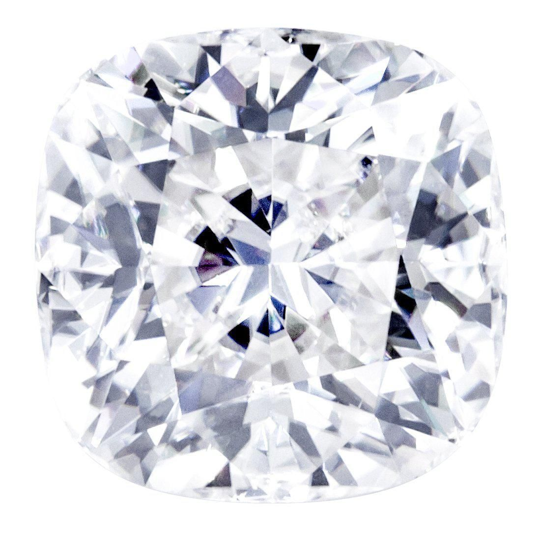 Crushed Ice Cushion First Crush FAB Moissanite Loose Stone