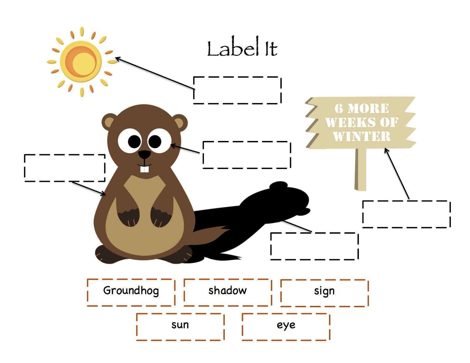Preschool Printables Groundhog Day Printable