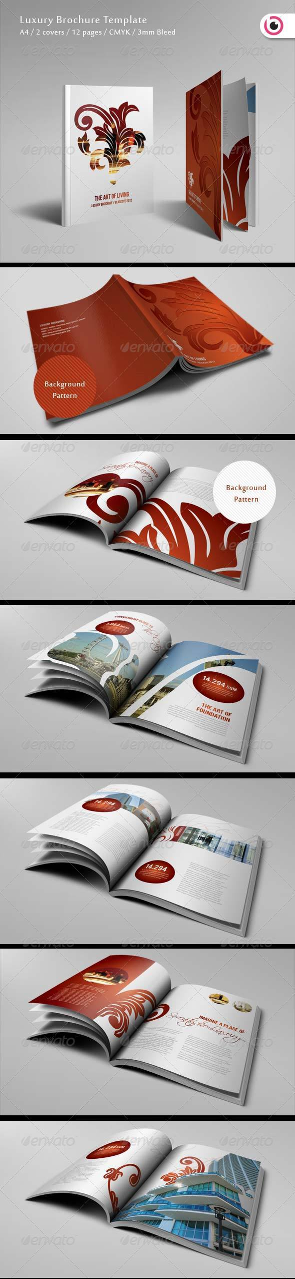 luxury brochure template 12 pages corporate brochures brochure