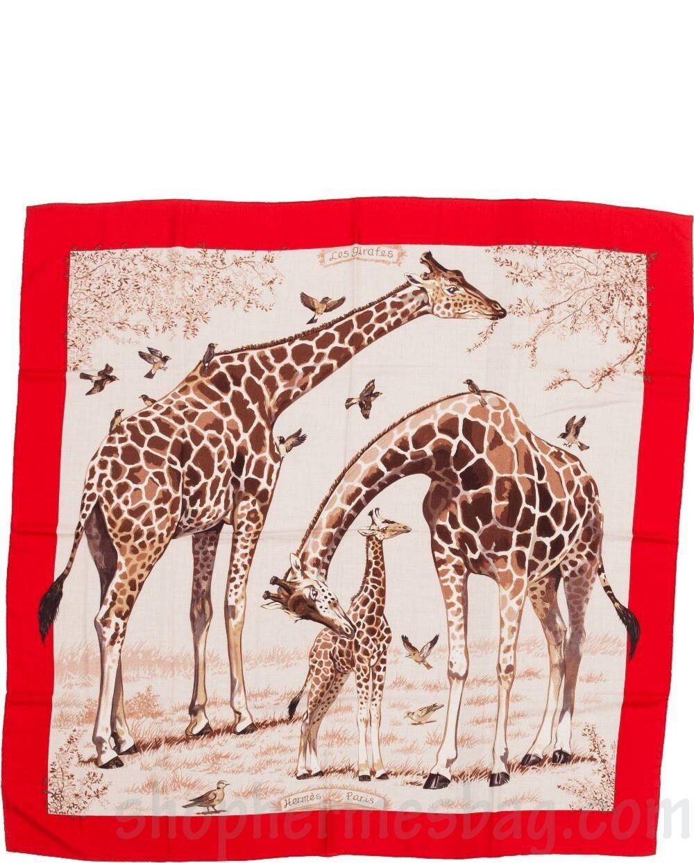 Hermès - Les Girafes, signé Robert Dallet Carré Hermes, Girafes, Foulards,  Sacs c1937a95978