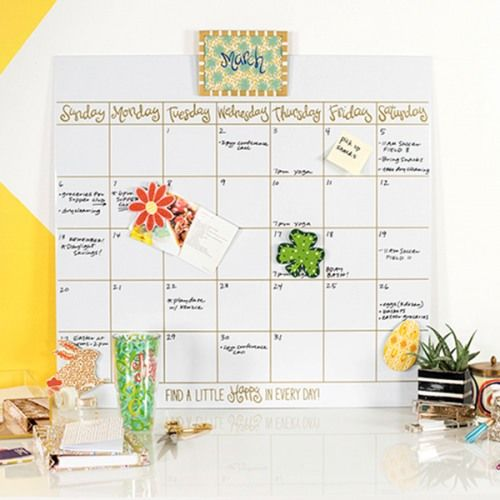 Happy Everything Magnetic Dry Erase Wall Calendar  Happy