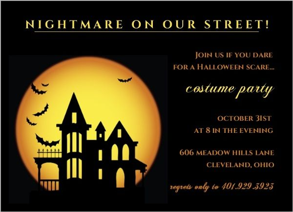 Nightmare On Our Street Halloween Party Invitations by PurpleTrail - halloween invitation template