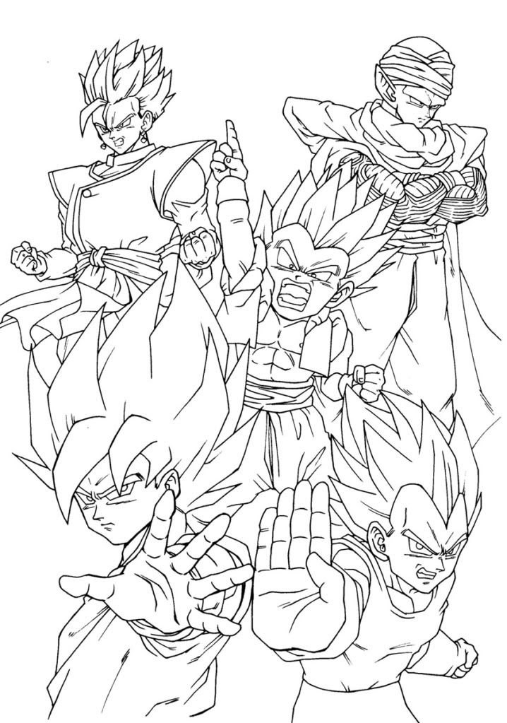 Dragon Ball Team Super Coloring Pages Dragon Ball Art Dragon Coloring Page