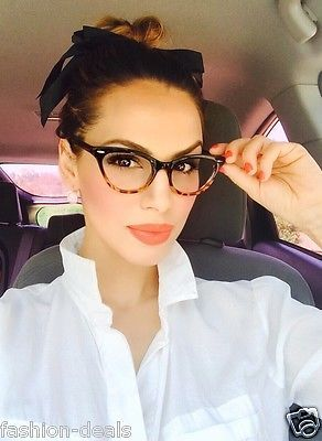 2a8a03b5d $11 ---------Cat Eye BLACK Tortoise Bottom Gradient Ombre Eyeglasses Clear  Lens in Clothing, Shoes & Accessories,Women's Accessories,Sunglasses &  Fashion ...