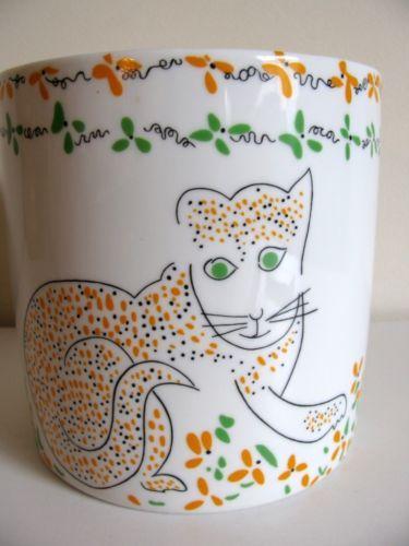 Modernist Gloria Vanderbilt 70s Cats Meow Sigma Taste Setter Planter ICE Bucket | eBay