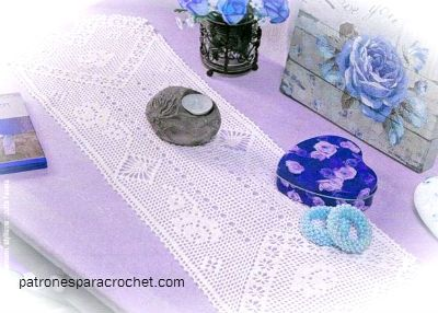 10 Patrones de carpetas, caminos de mesa y cortinas para tejer con ganchillo ~ Patrones para Crochet