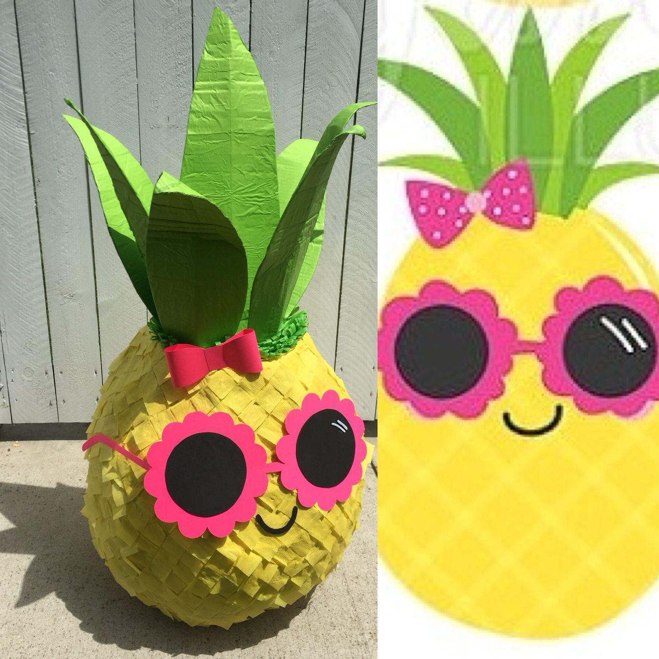 pineapple pi ata my creations pinterest birthdays