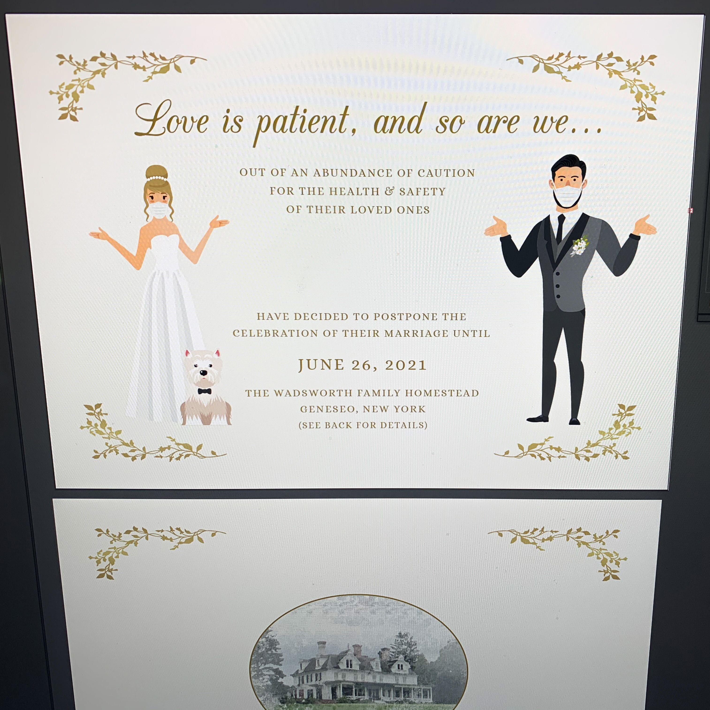Change the date cards wedding postponements in 2020