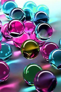 Bolas De Cristal De Colores En 3d Iphone Fondos De Pantalla
