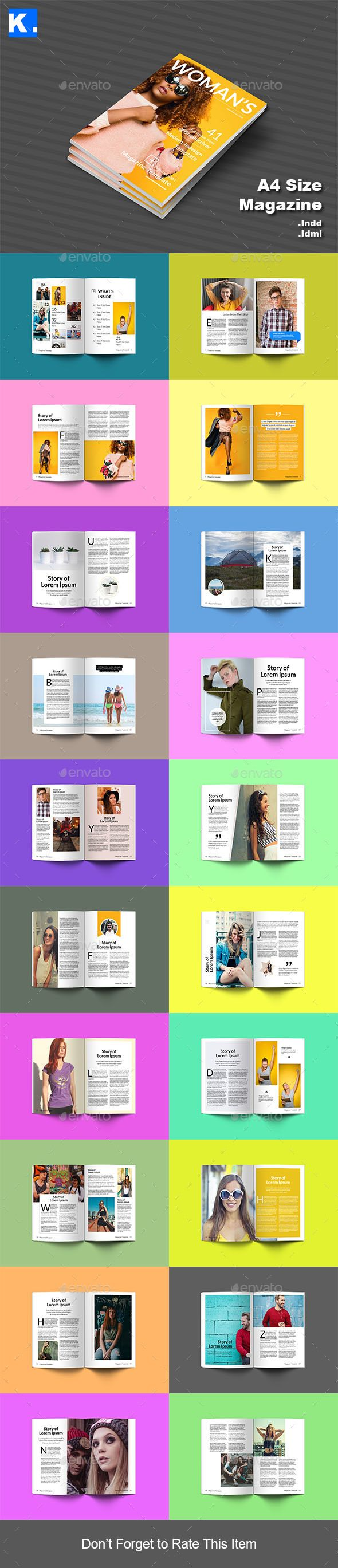 Indesign Magazine Template 8 | Indesign magazine templates, Template ...