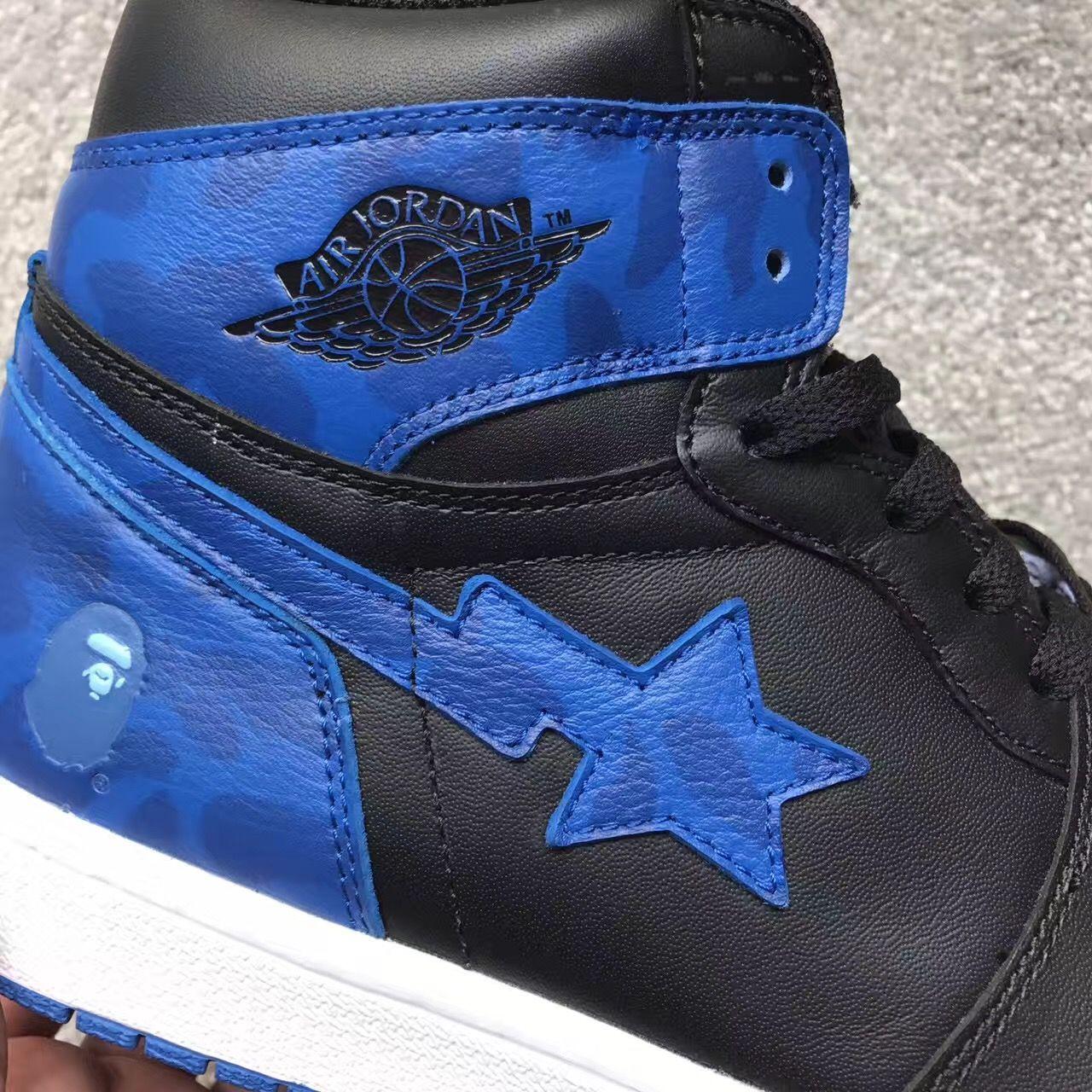 c26f2bc0053 Bape X Air Jordan 1 Royal? Customs, Fakes Or Another Frankenstein ...