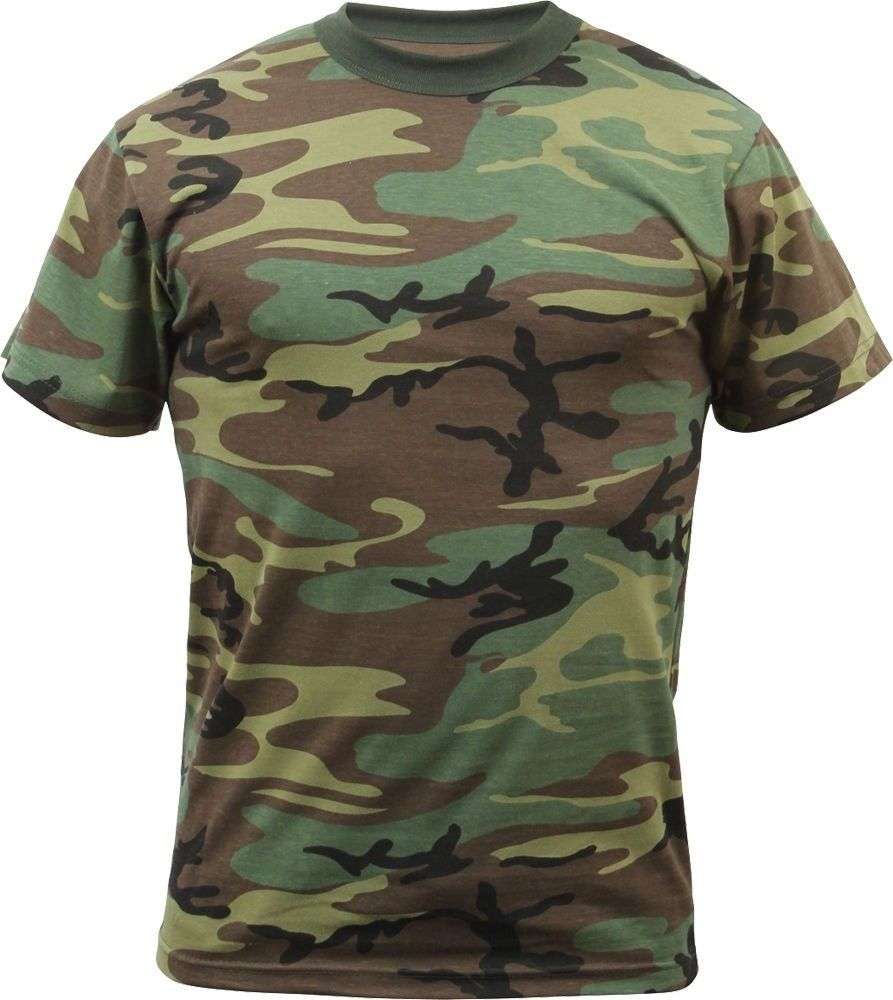 Kids Woodland Camouflage Heavyweight Premium Military T-Shirt  Rothco 796bfea923c