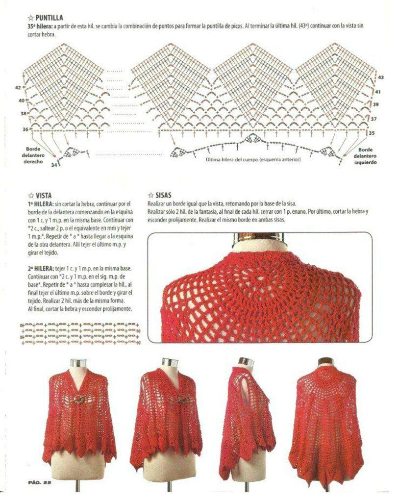 chaleco-una-pieza-circular-abierto-ganchillo5 | Chals a Crochet ...