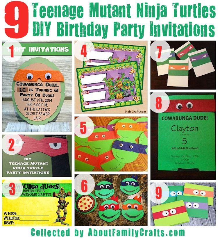 75+ DIY Teenage Mutant Ninja Turtles Birthday Party Ideas ...
