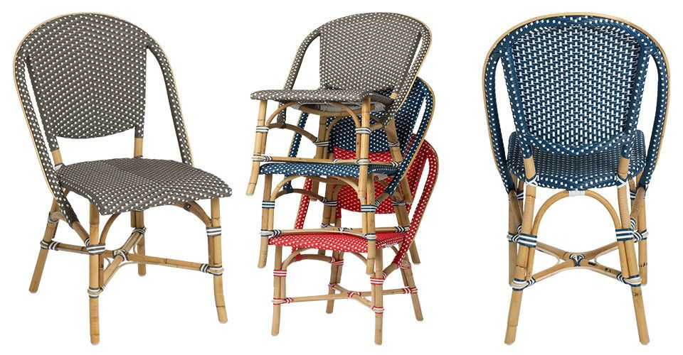 the sofie side bistro chair collection is a colorful new addition