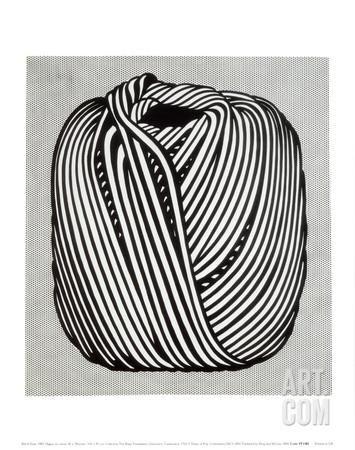 Ball of Twine, 1963 Art Print by Roy Lichtenstein at Art.com