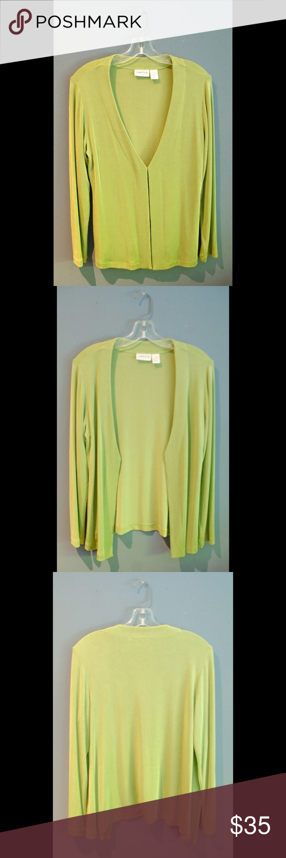 Chico's Travelers Pale Green Tie Front Cardigan Brand new without ...