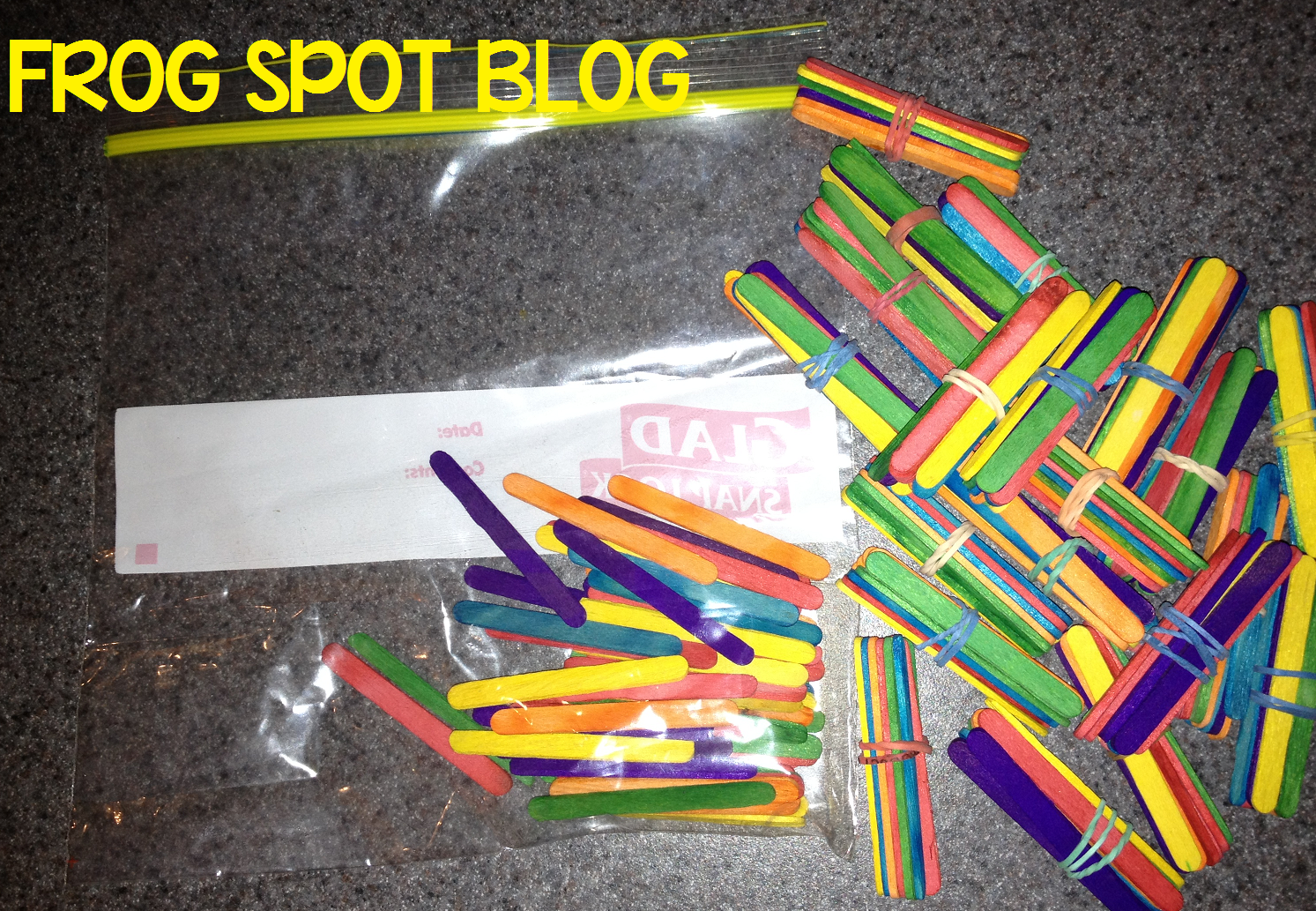 Popsicle Stick Bundles Into Groups Of 10 And 1 S